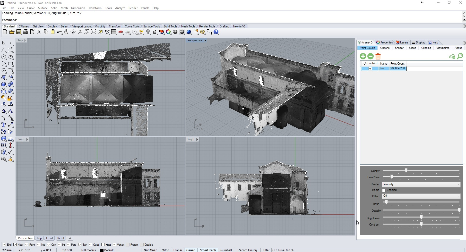 Veesus Arena4D Point Clouds for Rhino – Veesus